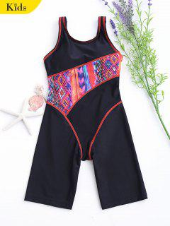 Printed Cut Out Surfing Swimwear - Black 8t