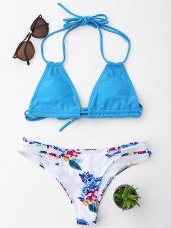 Ensemble De Bikini à Cordes Florales Halter - Pers S
