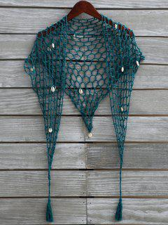 Shell Crochet Sarong - Malachite Green
