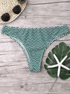 Zigzag Bikini Bottoms - Blackish Green S