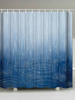 Cortina De Ducha Impermeable De La Ondulación Del Agua Para El Cuarto De Baño - Fusión W71pulgadas*l79pulgadas