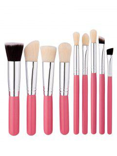 Ensemble De Brosses De Maquillage Beauté 9Pcs Face Eye - Rose PÂle