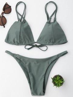 Conjunto De Bikini De Cadena - Verde Salvia L