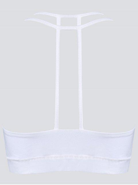 fashion Quick Dry Strappy Sports Bra - WHITE XL Mobile