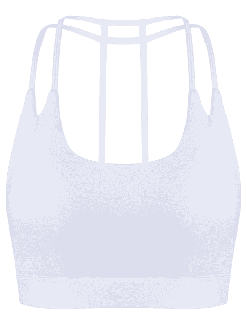 unique Quick Dry Strappy Sports Bra - WHITE S Mobile