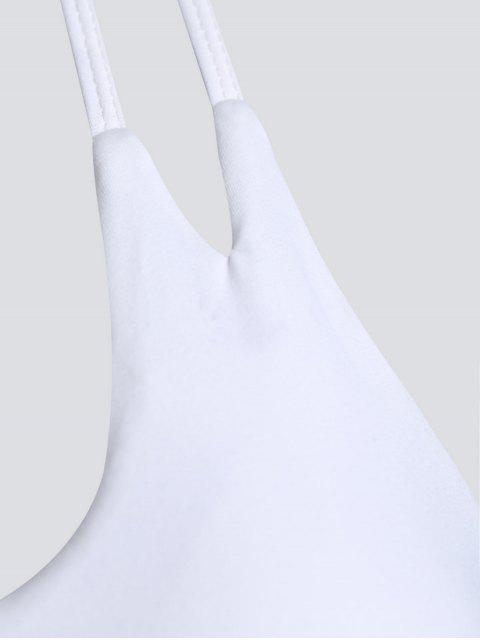 Soutien-gorge de sport Strappy Dry Dry - Blanc S Mobile