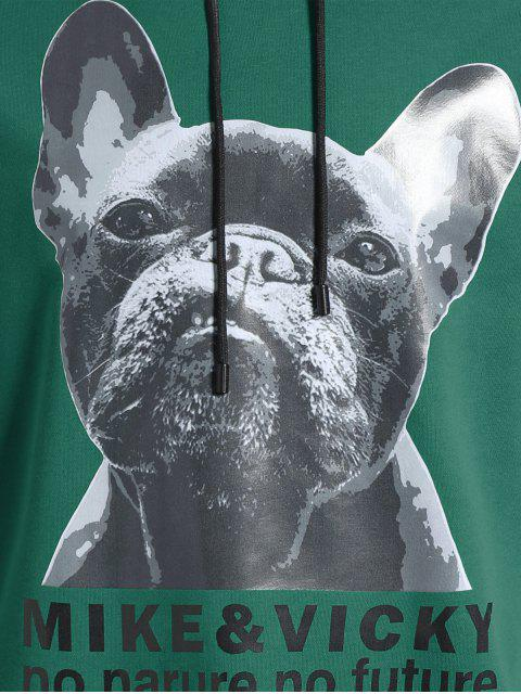 women Puppy Graphic Mens Oversized Hoodie - GREEN 5XL Mobile