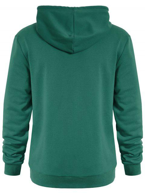 ladies Puppy Graphic Mens Oversized Hoodie - GREEN 3XL Mobile