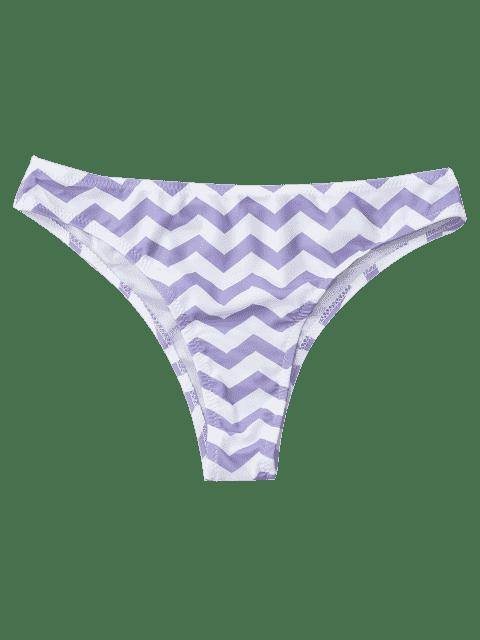 new Chevron Bikini Bottoms - WHITE + PURPLE M Mobile