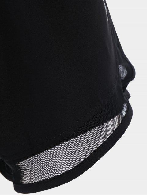 outfit Mesh Double Layered Running Shorts - BLACK XL Mobile