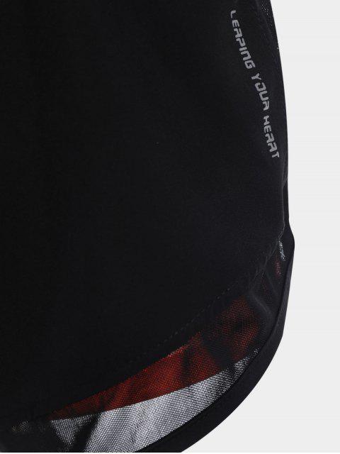 trendy Mesh Double Layered Running Shorts - ORANGEPINK XL Mobile