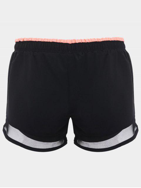 Shorts de course à double couche mous - Orange Rose S Mobile