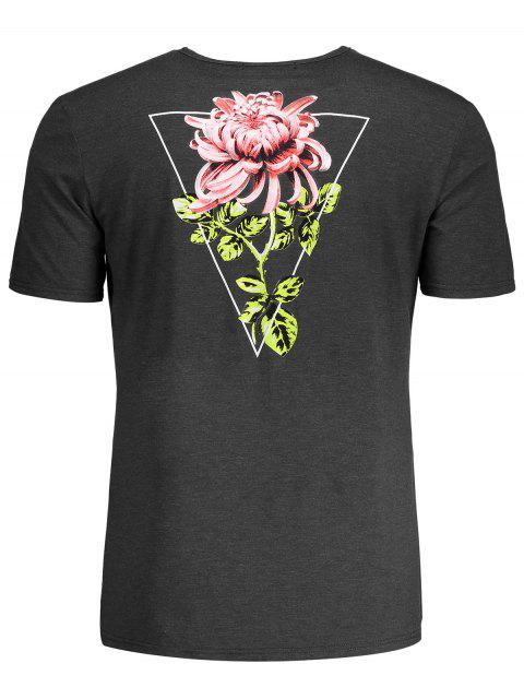 T-shirt tropical imprimé floral - Gris L Mobile