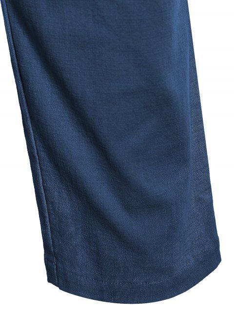 lady Casual Pockets Drawstring Pants - CADETBLUE 3XL Mobile