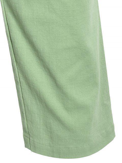 Casual Pockets Drawstring Pants - Vert clair 4XL Mobile