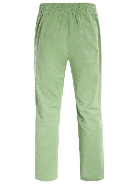Casual Pockets Drawstring Pants - Vert clair XL Mobile