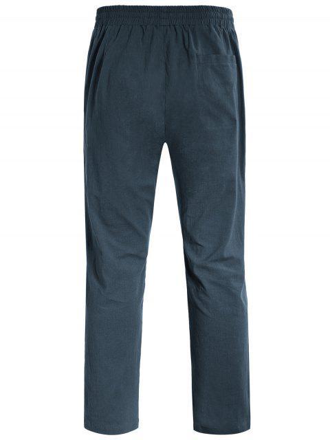 unique Casual Pockets Drawstring Pants - ATLANTIS 4XL Mobile