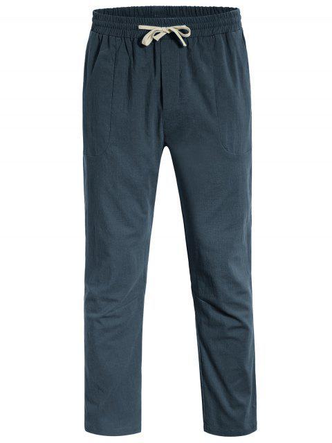 Casual Pockets Drawstring Pants - Atlantis 4XL Mobile