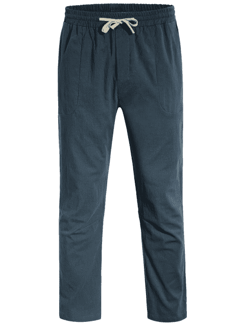 sale Casual Pockets Drawstring Pants - ATLANTIS 3XL Mobile