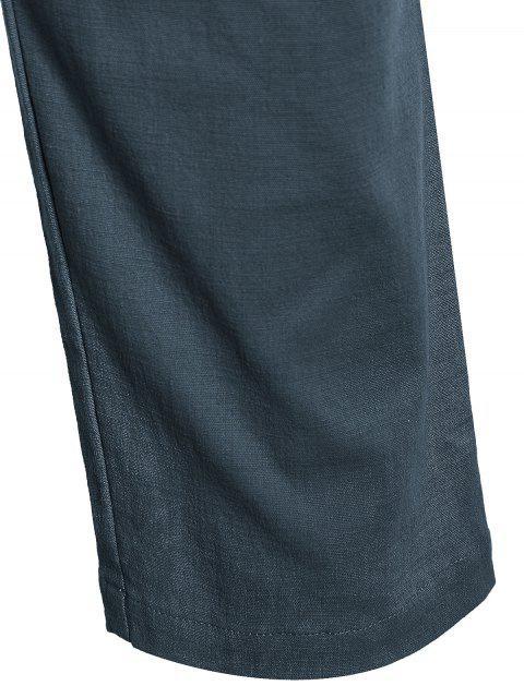 Casual Pockets Drawstring Pants - Atlantis 2XL Mobile