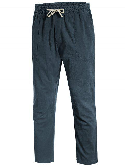 Casual Pockets Drawstring Pants - Atlantis XL Mobile