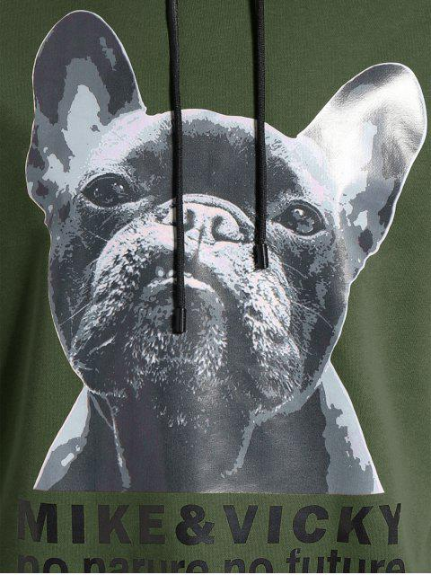 shop Puppy Graphic Mens Oversized Hoodie - ARMY GREEN 3XL Mobile