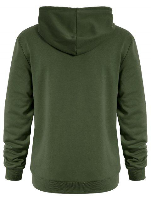 shops Puppy Graphic Mens Oversized Hoodie - ARMY GREEN 2XL Mobile