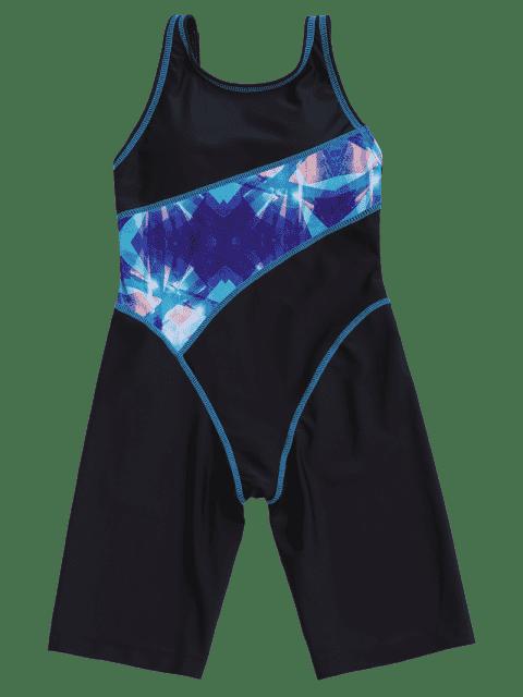 shop Patterned Cut Out Snorkeling Surfing Swimwear - BLACK 8T Mobile