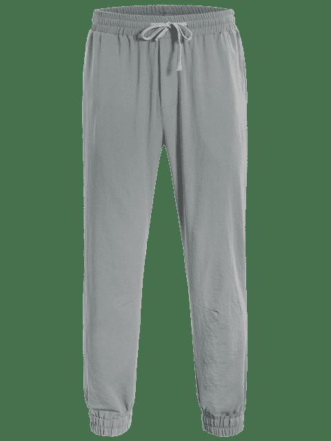 ladies Men Drawstring Jogger Pants - GRAY 2XL Mobile