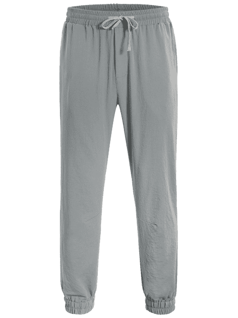 lady Men Drawstring Jogger Pants - GRAY XL Mobile