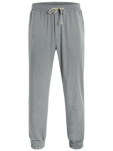 Pantalons de jogging - Gris L Mobile