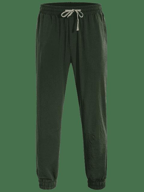 shop Men Drawstring Jogger Pants - ARMY GREEN 4XL Mobile
