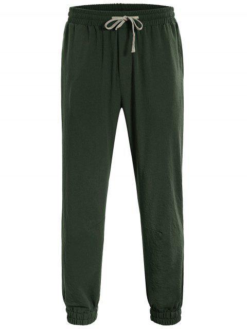 latest Men Drawstring Jogger Pants - ARMY GREEN 2XL Mobile