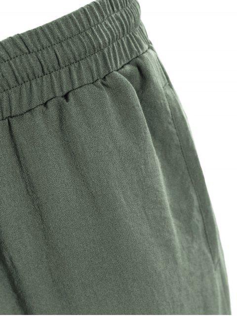 fancy Men Drawstring Jogger Pants - LIGHT GREEN 3XL Mobile