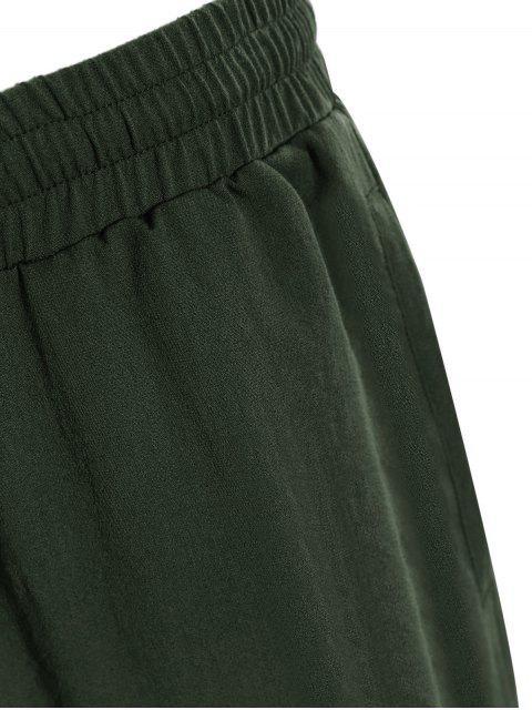 fashion Men Drawstring Jogger Pants - ARMY GREEN L Mobile