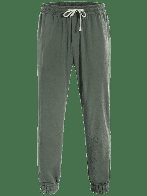 unique Men Drawstring Jogger Pants - LIGHT GREEN 2XL Mobile