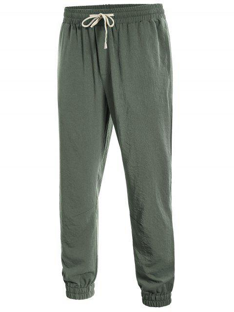 sale Men Drawstring Jogger Pants - LIGHT GREEN XL Mobile