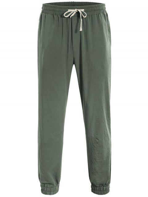 affordable Men Drawstring Jogger Pants - LIGHT GREEN L Mobile