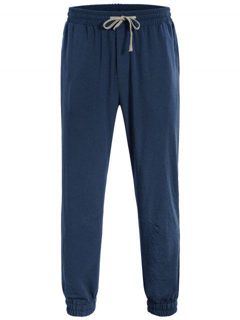 buy Men Drawstring Jogger Pants - CADETBLUE 4XL Mobile