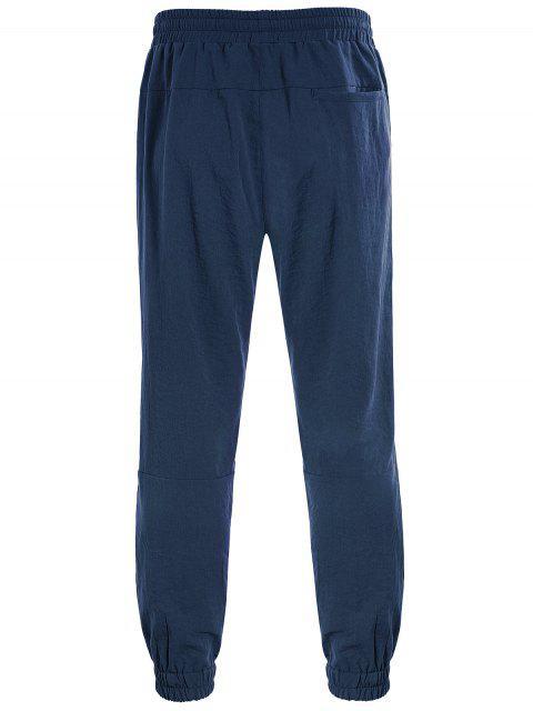 women's Men Drawstring Jogger Pants - CADETBLUE XL Mobile