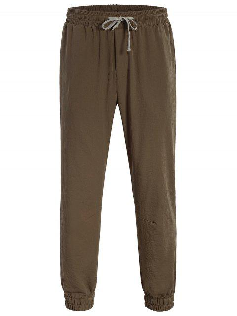 lady Men Drawstring Jogger Pants - COFFEE 4XL Mobile