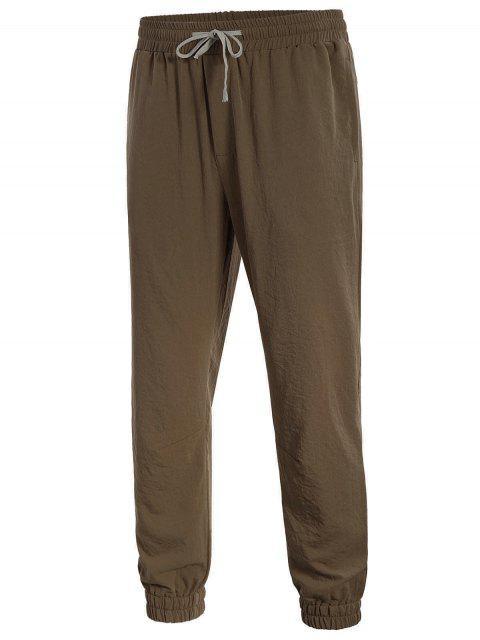 online Men Drawstring Jogger Pants - COFFEE 2XL Mobile