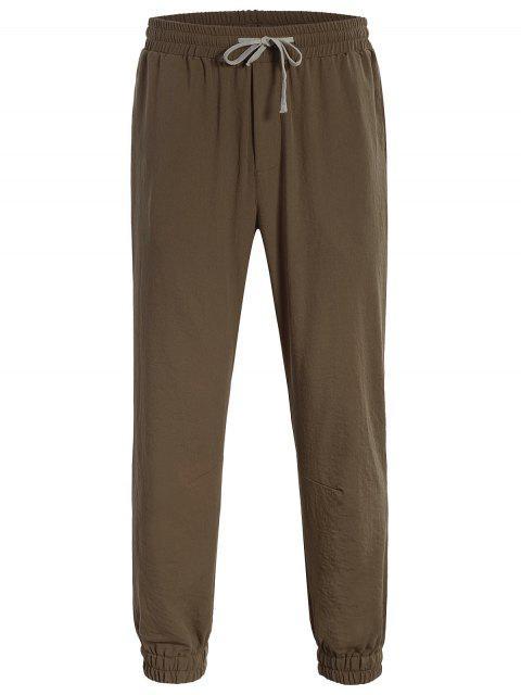 new Men Drawstring Jogger Pants - COFFEE XL Mobile