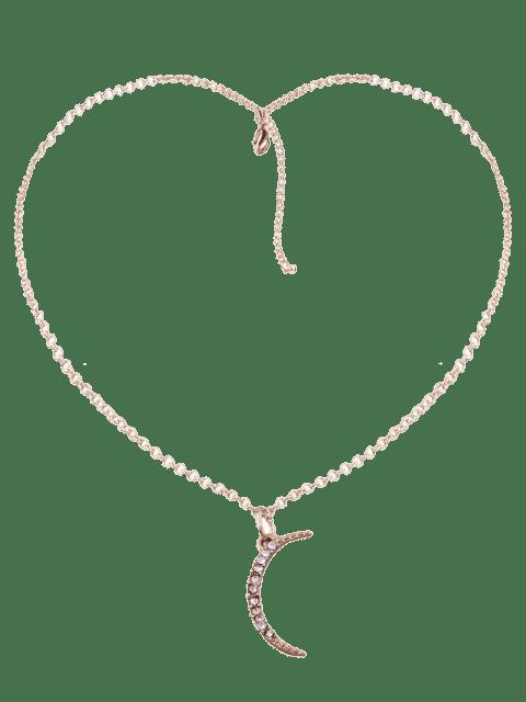 Collier pendentif en strass lune pendentif - Or  Mobile