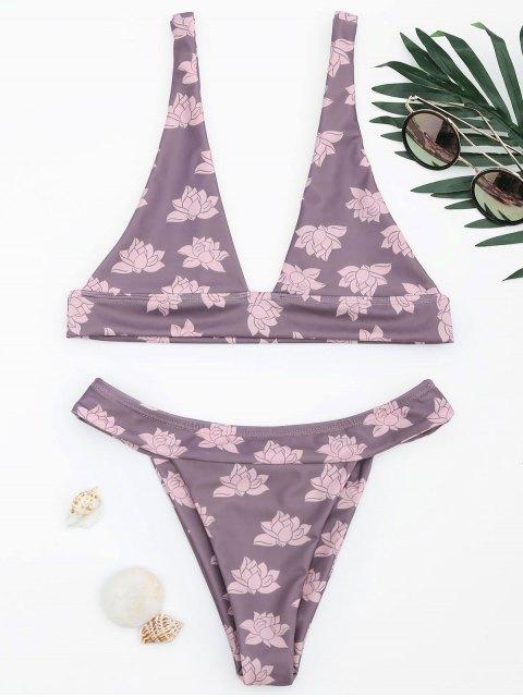 online Floral Thong Bikini Set - SMASHING M Mobile