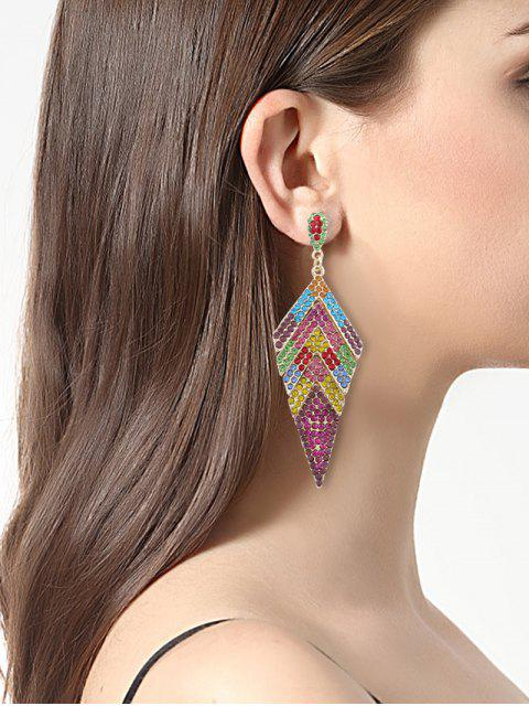 buy Sparkly Rhinestoned Geometric Dangle Earrings - COLORMIX  Mobile