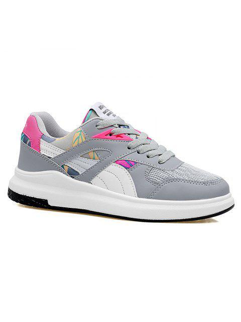 Malla de bloqueo de color que se ejecutan los zapatos deportivos - Gris y negro 39 Mobile