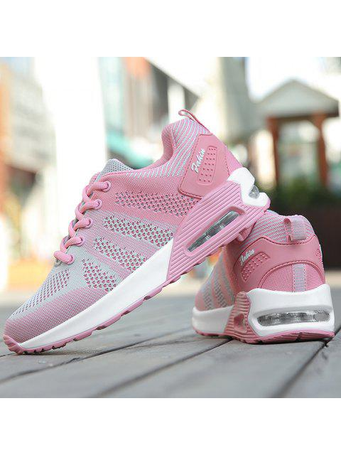 new Color Block Breathable Air Cushion Athletic Shoes - PINK AND GREY 38 Mobile