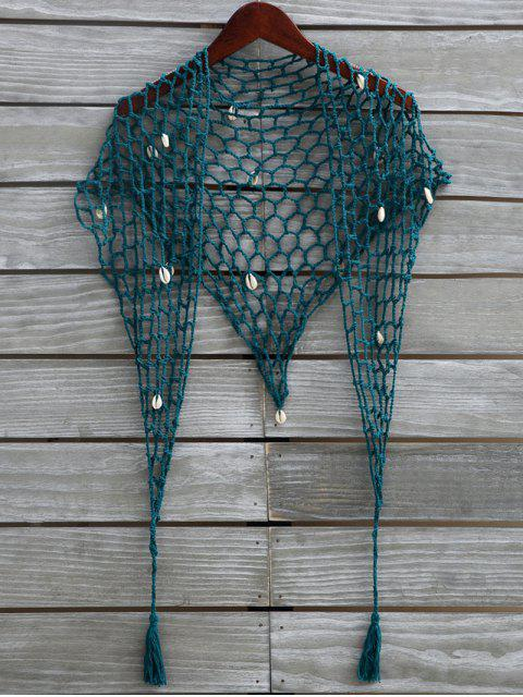 Shell Crochet Sarong - Vert Malachite Taille Unique Mobile