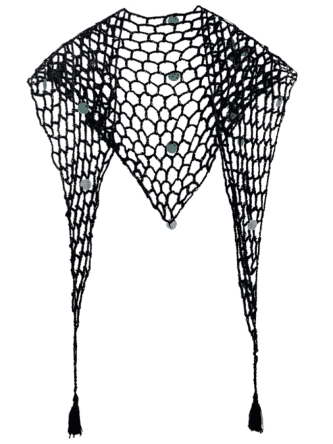 Sequin Crochet Sarong - Noir TAILLE MOYENNE Mobile